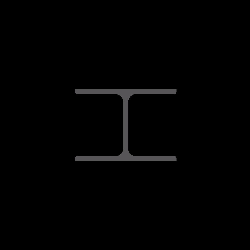Profils en I – angles vifs et arrondis